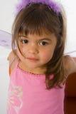 Fairy Girl. Little girl in fairy dress on white background Stock Photography