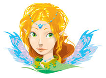 Fairy Girl. Vector Illustration a fairy girl Royalty Free Stock Image