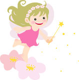 Fairy girl. Illustration of pretty girl with angel wings Royalty Free Stock Image