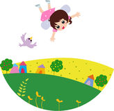 Fairy girl Stock Images