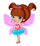 Fairy girl in elegant  dress Royalty Free Stock Image