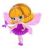 Fairy girl in elegant  dress Royalty Free Stock Photos