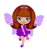 Fairy girl in elegant  dress Stock Images