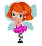 Fairy girl in elegant  dress Stock Photography