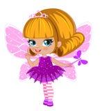 Fairy girl in elegant  dress Royalty Free Stock Images