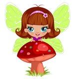 Fairy girl in elegant  dress Stock Image