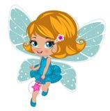 Fairy girl in elegant  dress Royalty Free Stock Photo
