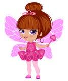 Fairy girl in elegant  dress Stock Photos