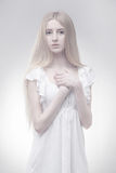 Fairy girl in glowing light Royalty Free Stock Photography