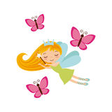 Fairy girl icon Stock Photo