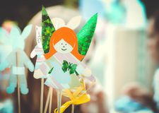 Fairy girl made of paper Stock Photography