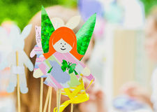Fairy girl made of paper Royalty Free Stock Photo