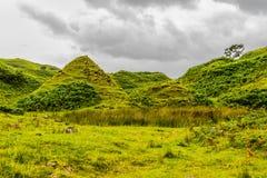 Fairy Glen, Scotland. Cone-shaped hills of the Fairy Glen, Scotland, UK Stock Photos