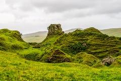 Fairy Glen, Scotland. Cone-shaped hills of the Fairy Glen, Scotland, UK Stock Images