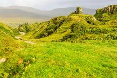 Fairy Glen, Scotland. Cone-shaped hills of the Fairy Glen, Scotland, UK Stock Image