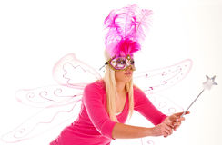 Fairy granting a wish royalty free stock image