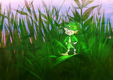 Fairy in a grass Stock Images