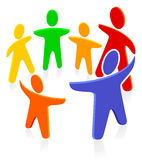 Fairy group. Coloured fairy group. people play Royalty Free Stock Photography