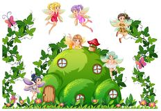 Fairy at the hill house royalty free illustration
