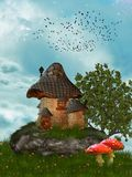 Fairy house. In the garden Royalty Free Stock Image