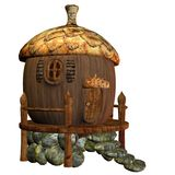 Fairy house 3. 3D render of a cute acorn house Royalty Free Stock Images