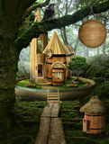 Fairy house ( barrel) Royalty Free Stock Photos