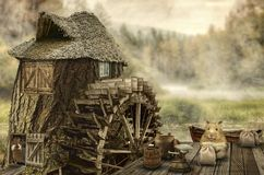 Fairy house (mill) Royalty Free Stock Photography