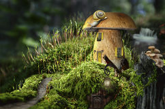 Fairy house (mushroom) Stock Image