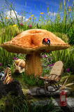 Fairy house (mushroom) Stock Photography