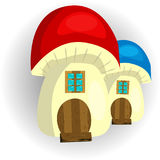 Fairy House mushroom on a white background royalty free illustration