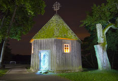 Fairy house at night. Fairy ancient house at night Royalty Free Stock Photos