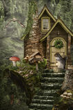 Fairy house (stump) Royalty Free Stock Images