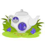 Fairy House in a Teapot Stock Photography