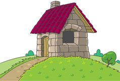 Fairy house from Three Little Pigs fairy tale Royalty Free Stock Image