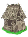 Fairy house from Three Little Pigs fairy tale. Fairy house of sticks and twigs (from Three Little Pigs fairy tale Stock Image