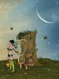 Fairy house stock illustration