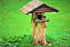 Fairy House Of Whimsy. Fairy house of a whimsical and playful feel Stock Photo