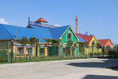 Fairy houses. Bright multi-colored pechenichnye houses in Sochi Park Royalty Free Stock Images