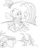 Fairy illustration Stock Images