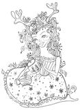 Fairy illustration. Hand drawn beautiful girl Stock Photography