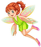 Fairy. Illustration of a single fairy Stock Photography