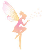 Fairy. Illustration of a fairy with stars Royalty Free Stock Photography