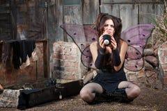 Fairy infelice con la sfera otto Fotografie Stock Libere da Diritti