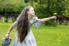A fairy just landed from the wonderland Stock Images