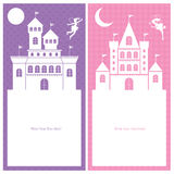 Fairy and kingdom card invitation Stock Photo