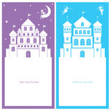 Fairy and Kingdom template card Royalty Free Stock Photography