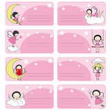 Fairy labels. Tags pink fairy with space for text Royalty Free Stock Photography