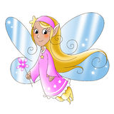 Fairy lady. Flying with a magic wand. Digital illustration Royalty Free Stock Photography