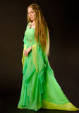 Fairy Lady. In green dress Stock Images