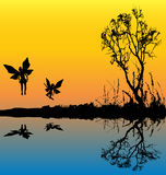 Fairy Lake Background Stock Photos